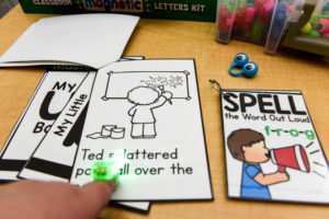 Students can use the reading finger monsters or finger beams to highlight the words as they read.