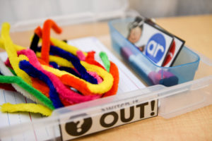 Materials for the Pipe Cleaner Phonics Game