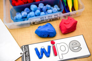 Students can use clay instead to fill in the sound-spelling words.