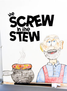 The story of the Screw in the Stew, a rhyming poem to help teach phonics.