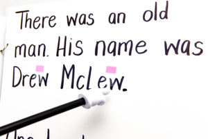 "The first line of the poem: ""There was an old man. His name was Drew McLew."""