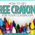 How to Get Free Crayons For Your Classroom