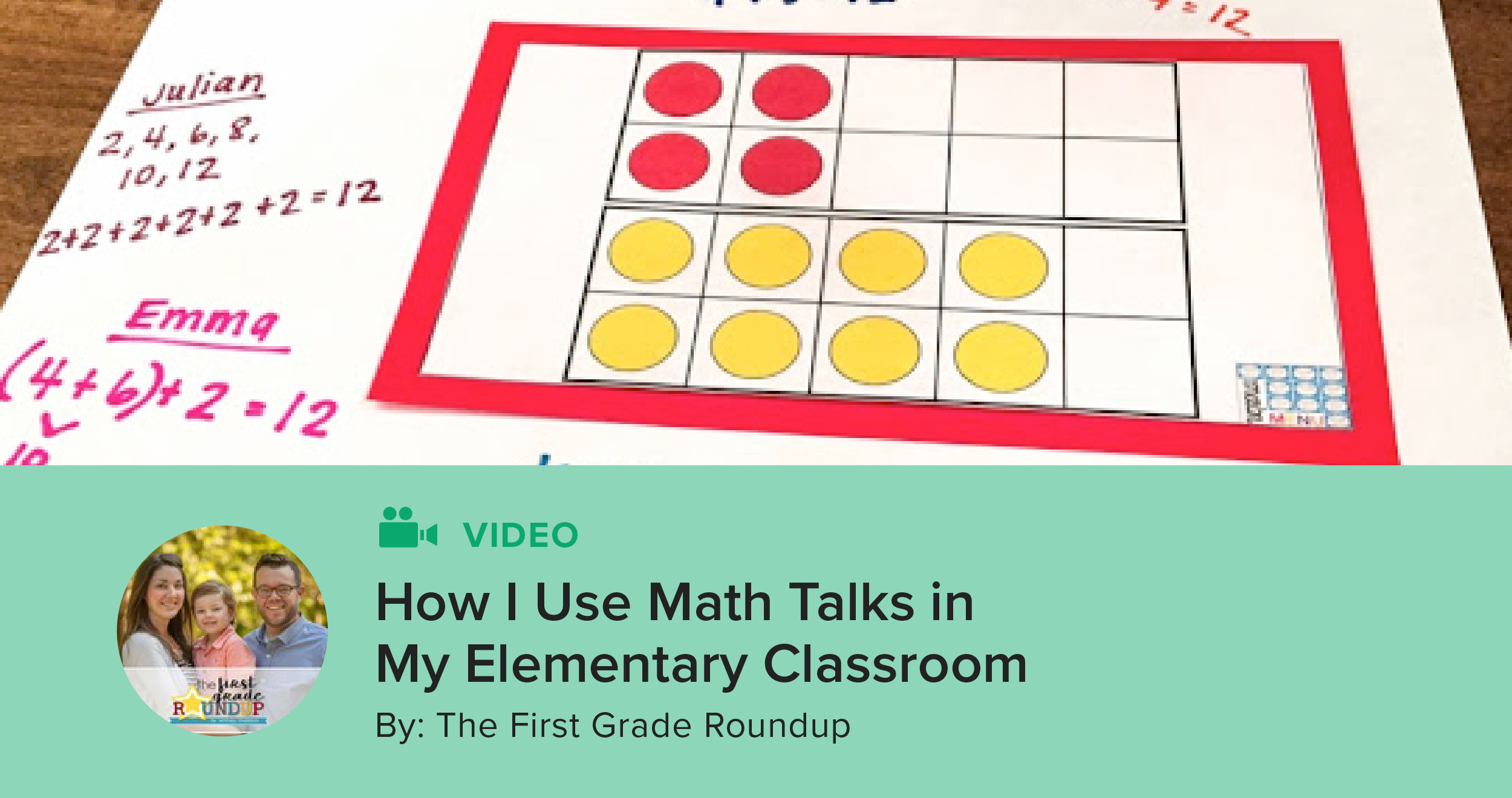 How I Use Math Talks in My Elementary Classroom | The TpT Blog