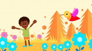 """""""Engaging visuals and a catchy song guide children through a focused listening practice,"""" says Mindful Youth Project."""