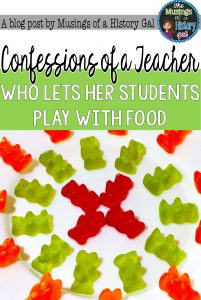 Great ideas for using gummy bears in social studies by History Gal