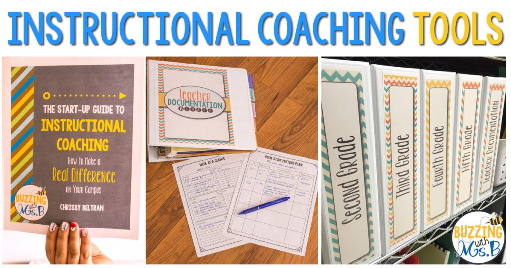 Instructional Coaching is tough: Make your life easier by getting organized with these six systems that have worked for me!