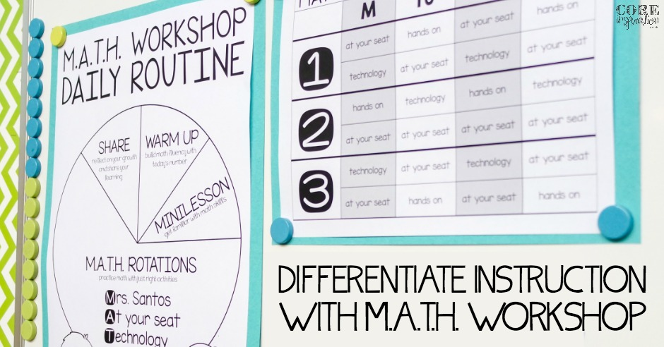 Differentiate Math Instruction With Math Workshop The Tpt Blog