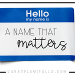 """My Name Matters"": Here's a Challenge For You All"