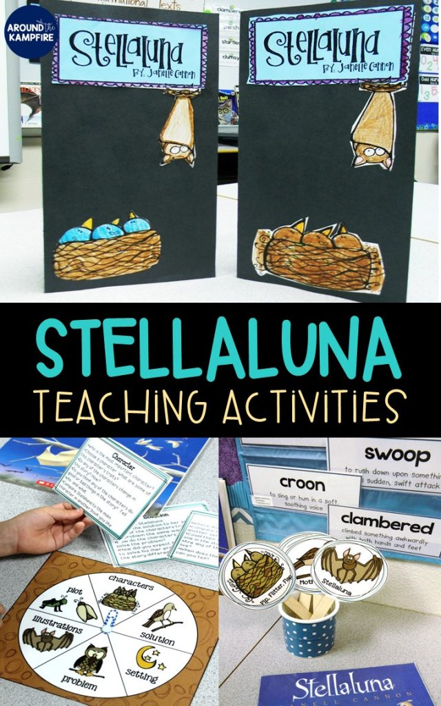 This complete Stellaluna unit is a teacher's dream for helping you turn your readers into comprehenders. The Stellaluna activities for first and second grade focus on comprehension, characters, point of view, sequencing, word work, and reading fluency. Everything you need with lesson plans, anchor charts, graphic organizers, crafts, and centers. Your students will love the culminating foldable lapbook where they write about their reading! Perfectly aligns to RL.3, RL.5, RL.6