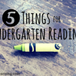 5 Things for Kindergarten Readiness