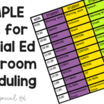 Simple Tips for Special Ed Classroom Scheduling