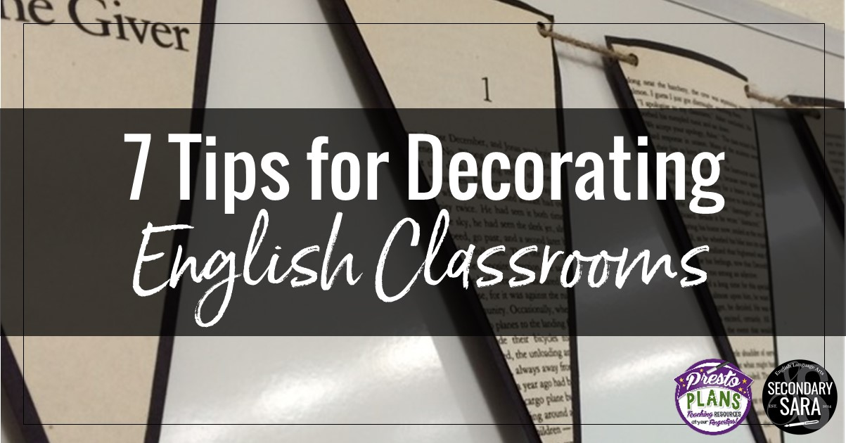 7 Tips For Decorating English Classrooms The Tpt Blog