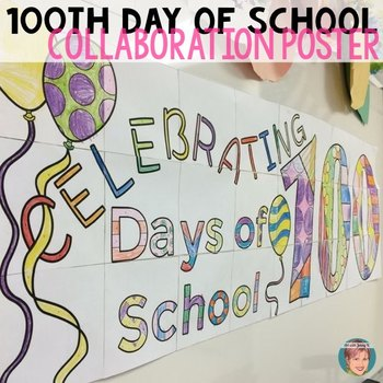 This 100s day of school arts and crafts activity has 27 pieces that combine to produce a large, colorful classroom banner to celebrate the milestone.