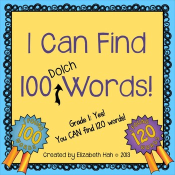 100 days of school activity that enforces reading, spelling, and writing as students search for 100 dolch words.