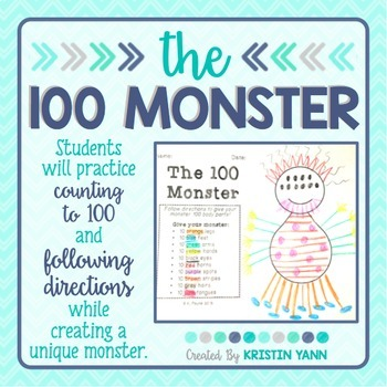 Here's a fun way to celebrate 100 days of school: Have students practice counting to 100 and following directions, all while creating a unique monster!
