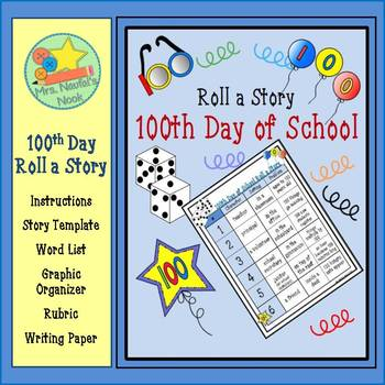 This writing game activity provides creative writing prompts revolving around the 100th day of school.
