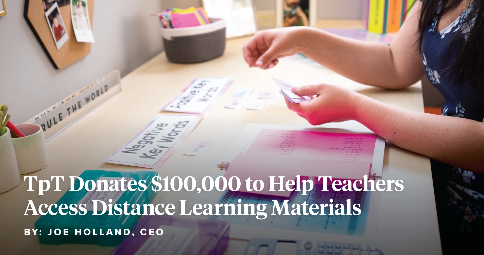 TpT Donates $100,000 to Help Teachers Access Distance Learning Materials