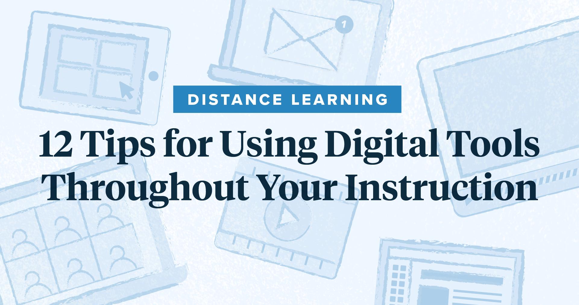 illustration of online teaching tools
