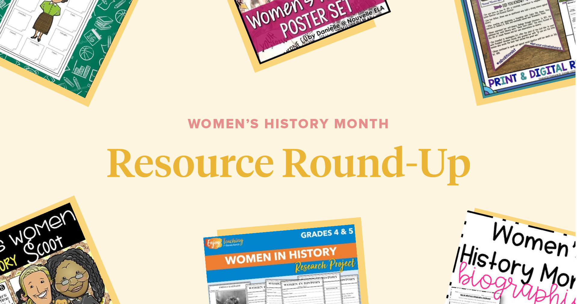 Women's History Month Resource Round-Up
